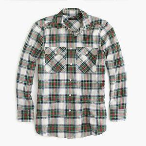 J. Crew Petite Button-up shirt in Stewart  Tartan